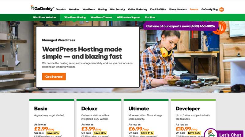 GoDaddy Managed Wordpress Header