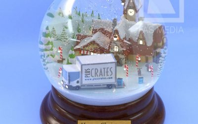 3D Snowglobe for Pluscrates Christmas Card 2018