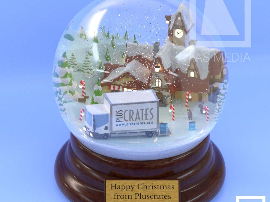 Pluscrates snow globe
