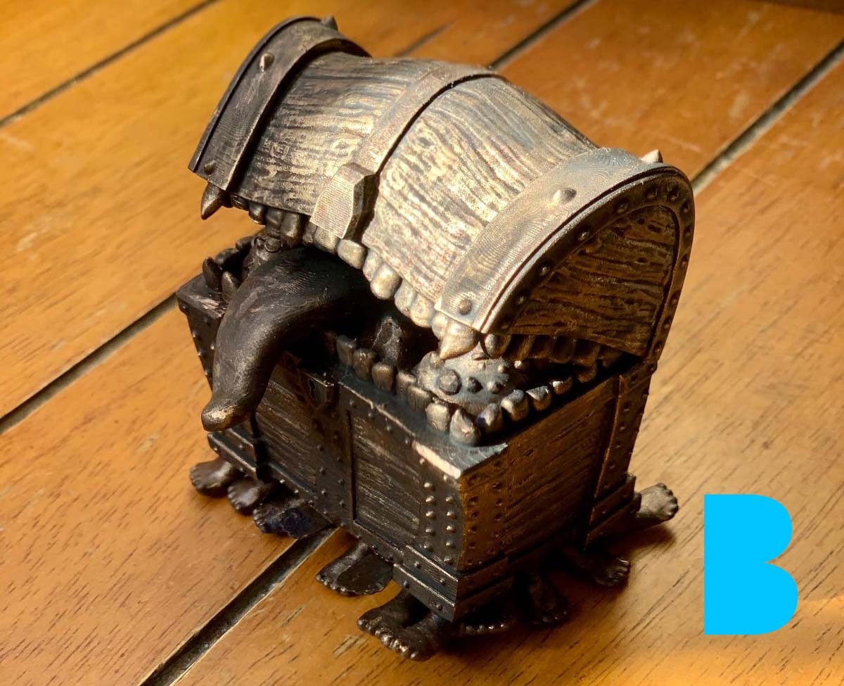 3D Print of the Luggage STL from Discworld
